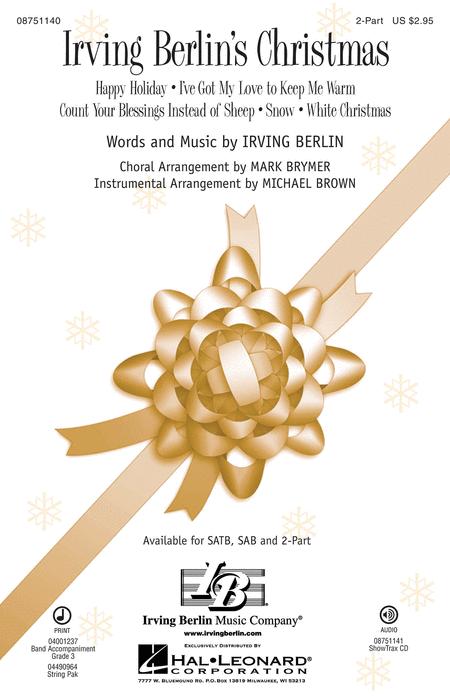 Irving Berlin's Christmas : 2-Part : Michael Brown : Irving Berlin : Sheet Music : 08751140 : 884088476816