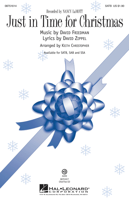 Just in Time for Christmas : SAB : Keith Christopher : Nancy Lamott : Songbook : 08751615 : 884088492809
