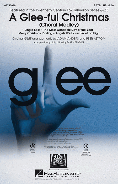 "A <span style=""color:red;"">Glee</span>-ful Christmas : SATB : Peer Astrom : Glee Cast : Songbook : 08753039 : 884088561024"
