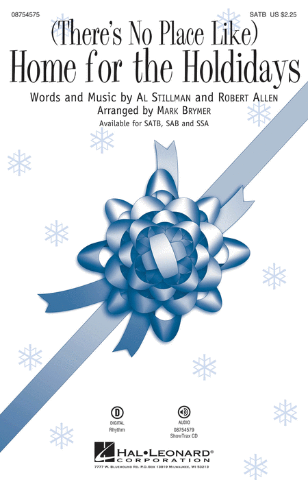 (There's No Place Like) Home for the Holidays : SSA : Mark Brymer : Stillman / Allen : Sheet Music : 08754577 : 884088645410