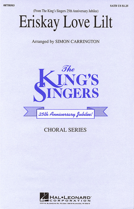 Eriskay Love Lilt : SATB : Simon Carrington : King's Singers : 08758503 : 073999585032