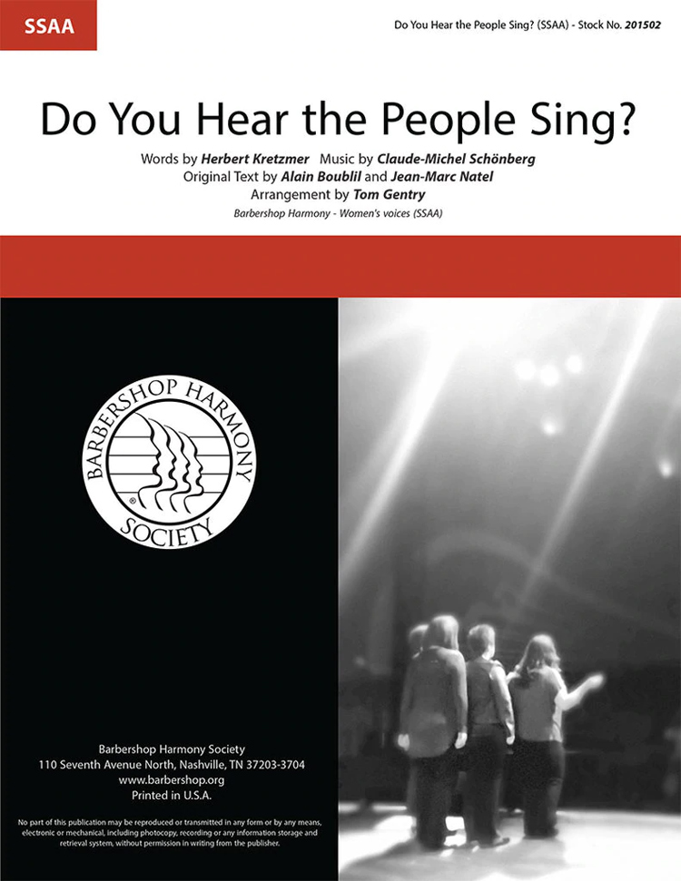 Do You Hear The People Sing? : SSAA : Tom Gentry : Les Miserables : Sheet Music : 00350472