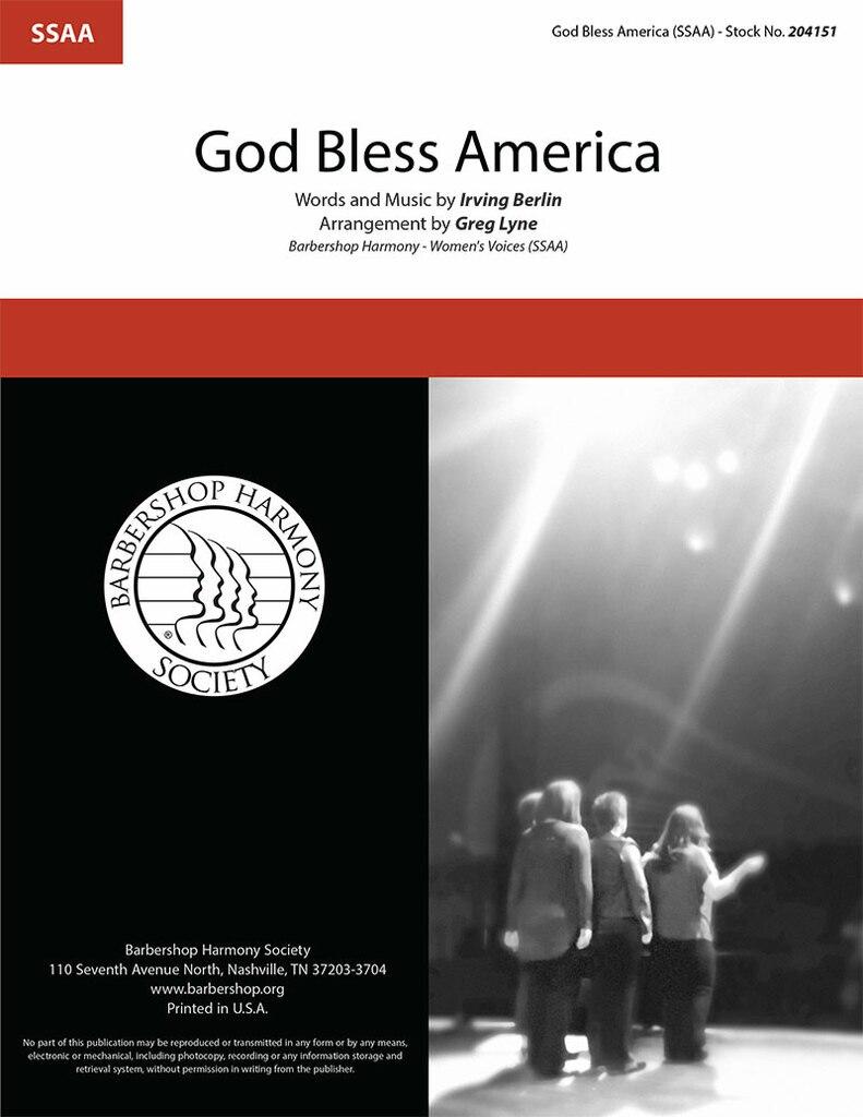 God Bless America : SSAA : Greg Lyne : Irving Berlin : Sheet Music : 204151