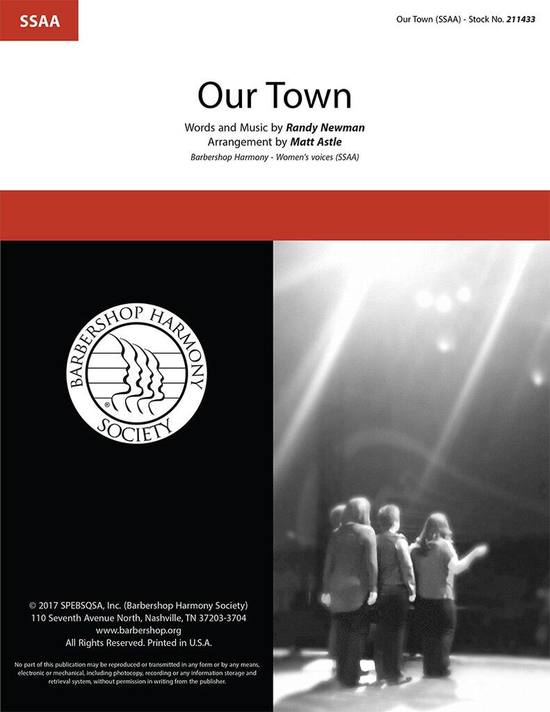 Our Town : SSAA : Matt Astle : Randy Newman : James Taylor : Cars : Sheet Music : 211433