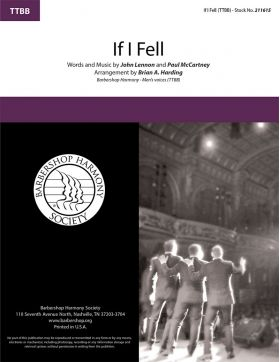 If I Fell : TTBB : Brian Harding : Lennon / McCartney : Beatles : Songbook : 211615