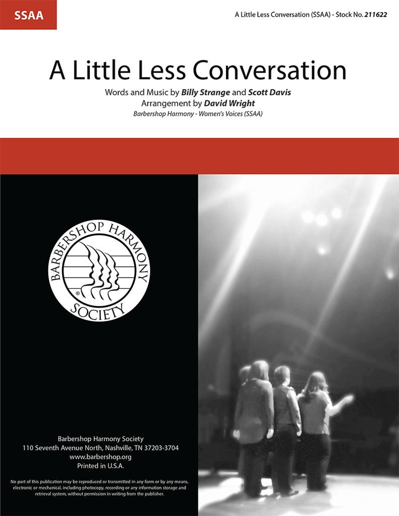 A Little Less Conversation : SSAA : David Wright : Billy Strange : Elvis Presley : Sheet Music : 211622