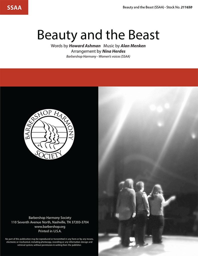 Beauty and the Beast : SSAA : Nina Herdes : Alan Menken : Beauty and the Beast : Sheet Music : 211650