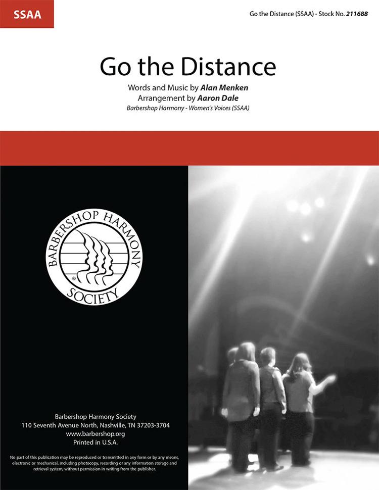 Go The Distance : SSAA : Aaron Dale : Alan Menken : Hercules : Sheet Music : 00333981