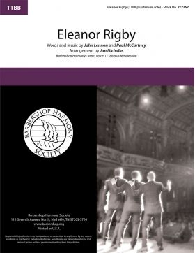 Eleanor Rigby : TTBB & Female Solo : Steve Delehanty : Lennon / McCartney : Beatles : Sheet Music : 212252