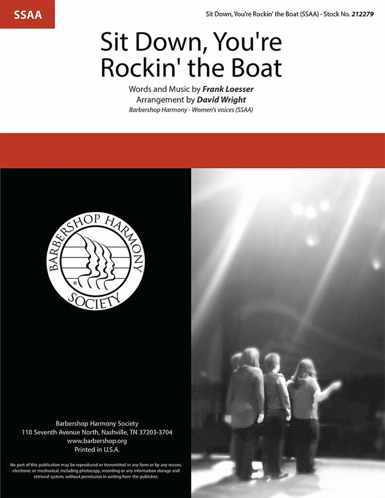 Sit Down, You're Rocking The Boat : SSAA : David Wright : Frank Loesser : Guys and Dolls : Sheet Music : 00363299