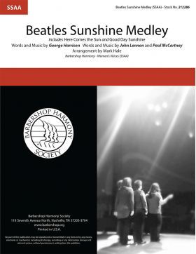 "<span style=""color:red;"">Beatles</span> Sunshine Medley : SSAA : Mark Hale : Lennon / McCartney : The Beatles : Sheet Music : 212286"