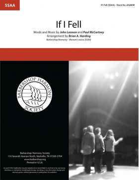 If I Fell : SSAA : Brian Harding : Lennon / McCartney : Beatles : Sheet Music : 212419