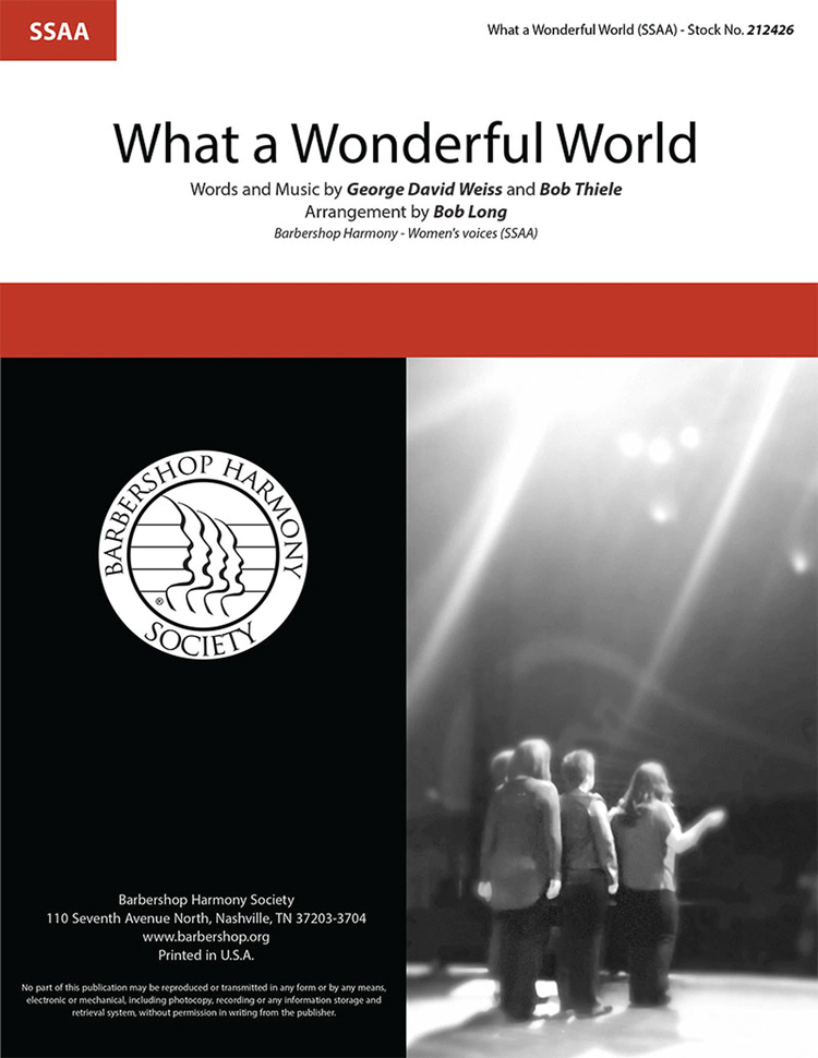 What a Wonderful World : SSAA : Bob Long : Bob Thiele : DVD : 212426