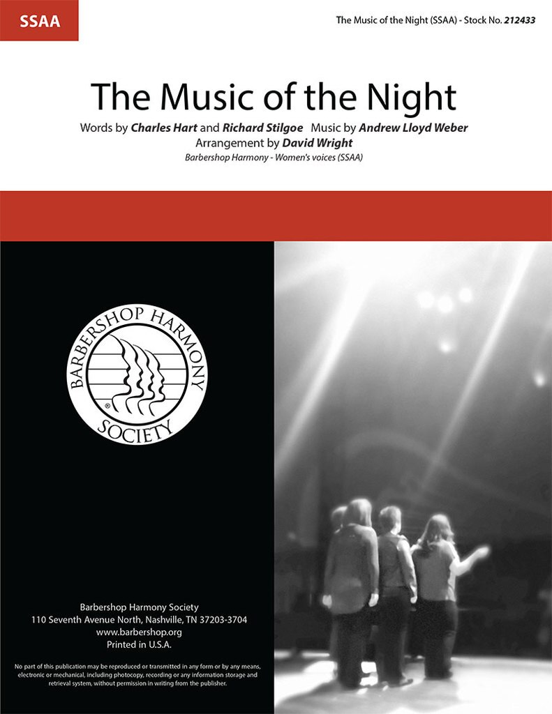 The Music of the Night : SSAA : David Wright : Andrew Lloyd Weber : The Phantom of the Opera : Sheet Music : 212433