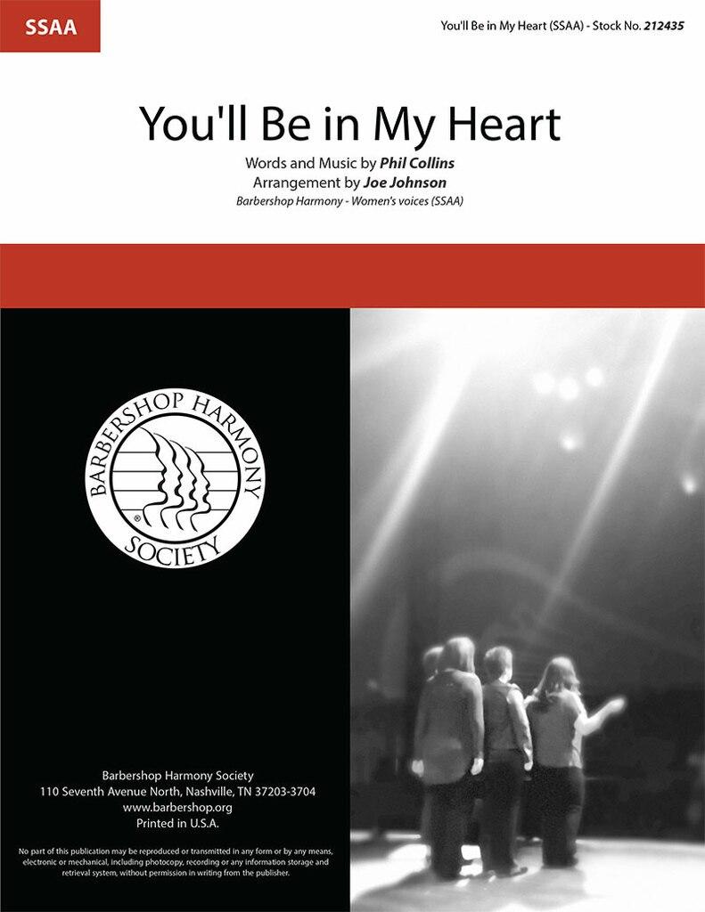 You'll Be In My Heart : SSAA : Joe Johnson : Phil Collins : Tarzan : Sheet Music : 212435