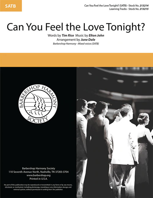 Can You Feel The Love Tonight? : SATB : June Dale : Sheet Music : 213214