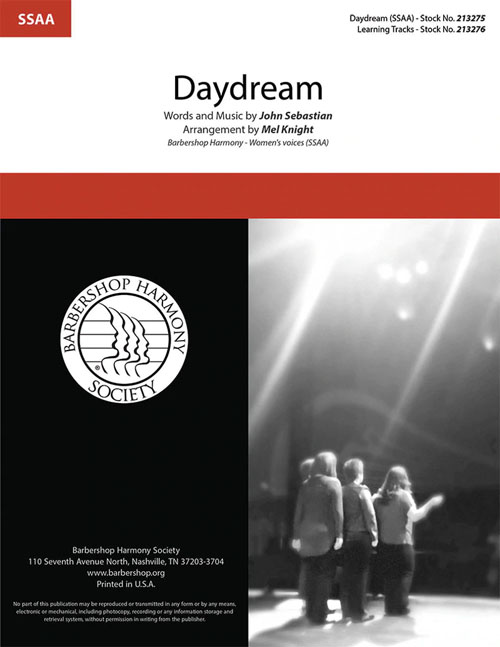 Daydream : SSAA : Mel Knight : John Sebastian : Sheet Music : 00337856