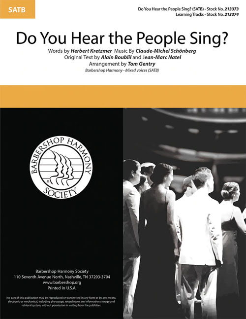 Do You Hear the People Sing? : SATB : Tom Gentry  : Sheet Music : 00333994