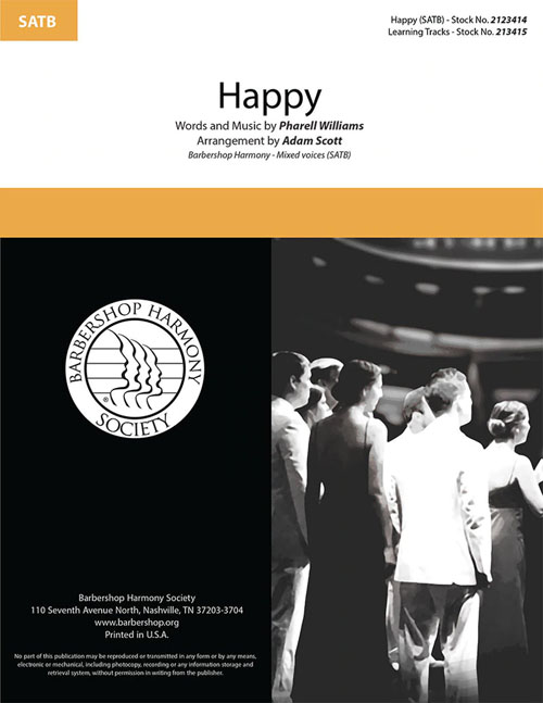 Happy : SATB : Adam Scott : Sheet Music : 00334007