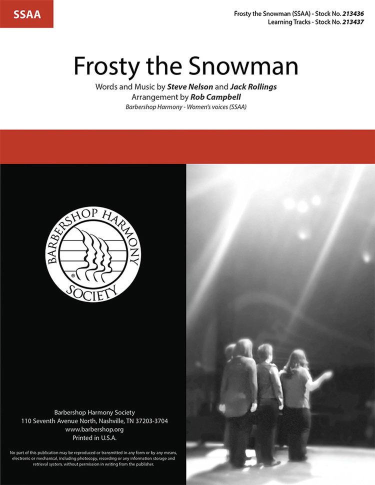 Frosty the Snow Man : SSAA : Rob Campbell : Songbook & CD : 213436