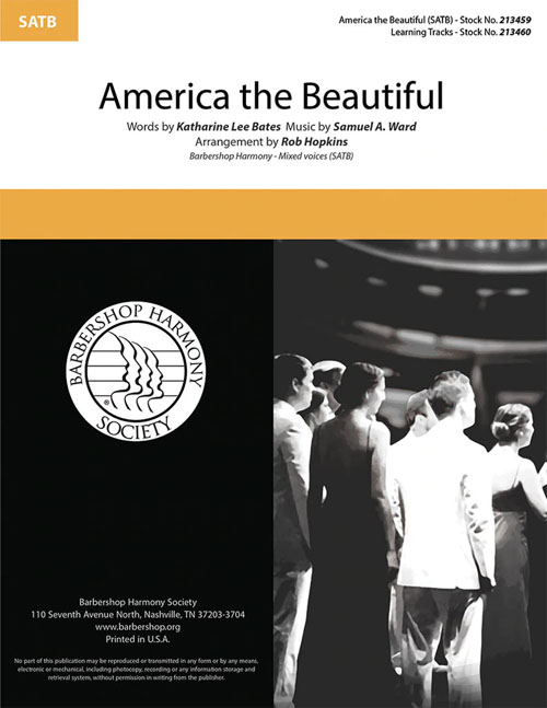 America The Beautiful : SATB : Rob Hopkins  : Sheet Music : 00333989