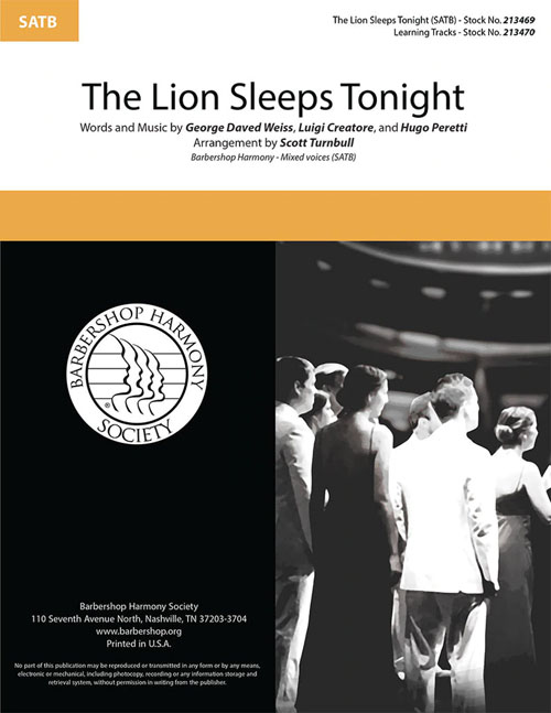 The Lion Sleeps Tonight : SATB : Scott Turnbull : DVD : 213469