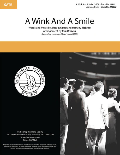 A Wink and a Smile : SATB : Kim Brittain  : Marc Shaiman : Sheet Music : 213531