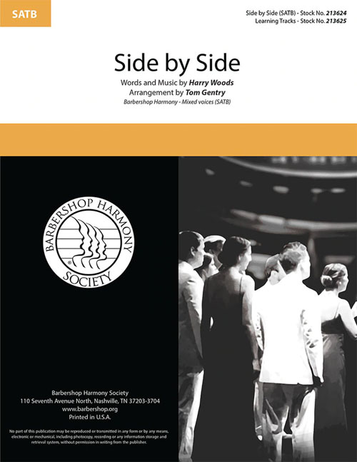 Side By Side : SATB : Tom Gentry : Sheet Music : 00362239
