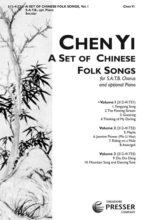 A Set Of Chinese Folk Songs (Volume 1)  : SATB : Chen Li : Sheet Music : 312-41731