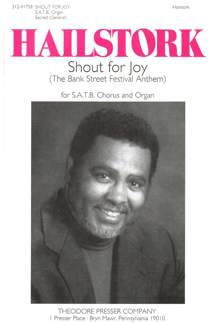Shout for Joy : SATB : Adolphus Hailstork : Adolphus Hailstork : Sheet Music : 312-41758
