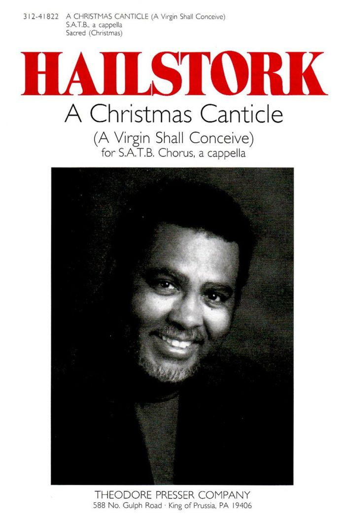 A Christmas Canticle : SATB : Adolphus Hailstork : Adolphus Hailstork : Songbook : 312-41822