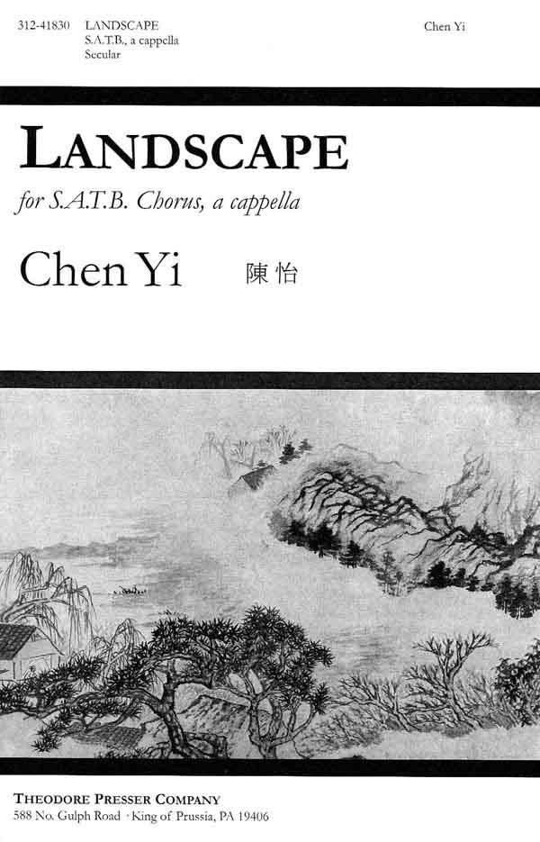 Landscape : SATB : Chen Yi : Sheet Music : 312-41830