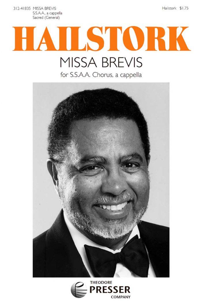 Missa Brevis for Treble Chorus : SSAA : Adolphus Hailstork : Adolphus Hailstork : Sheet Music : 312-41835