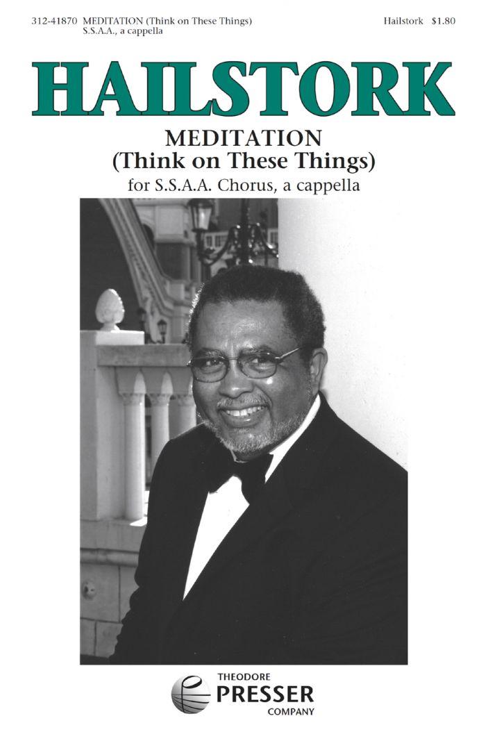 Meditation : SSAA : Adolphus Hailstork : Adolphus Hailstork : Sheet Music : 312-41870