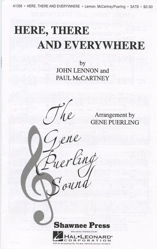 Here, There And Everywhere : SATB : Gene Puerling : The Singers Unlimited : Sheet Music : 35009231 : 747510029830