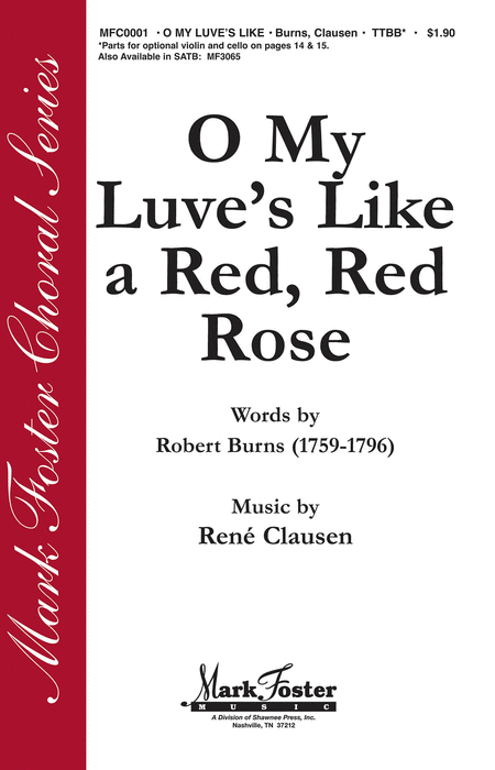O My Luve's Like a Red, Red Rose : TTBB :  :  : Sheet Music : 35015689 : 747510183136