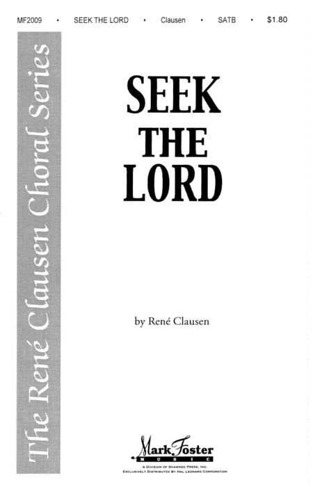 Seek the Lord : SATB Divisi :  :  : Sheet Music : 35019355 : 747510063162