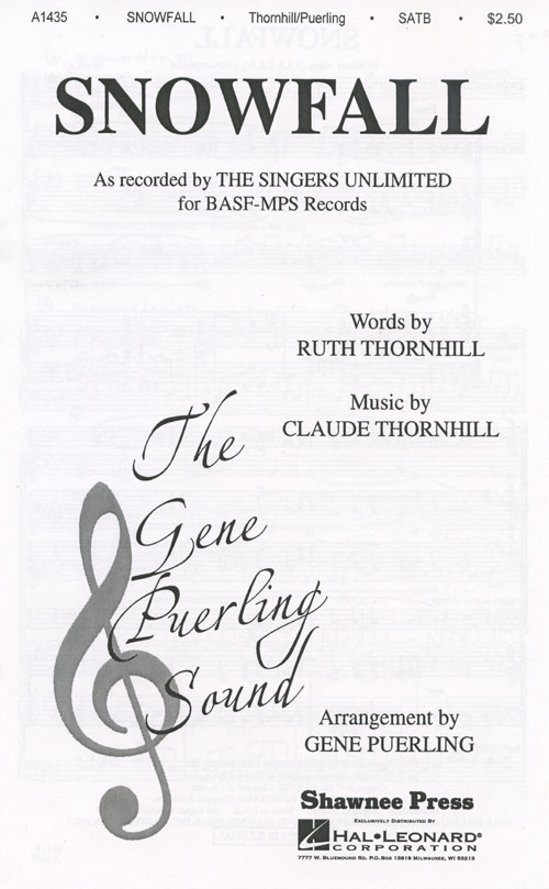 Snowfall  : SSATBB : Gene Puerling : The Singers Unlimited : Sheet Music : 35020727 : 747510017875