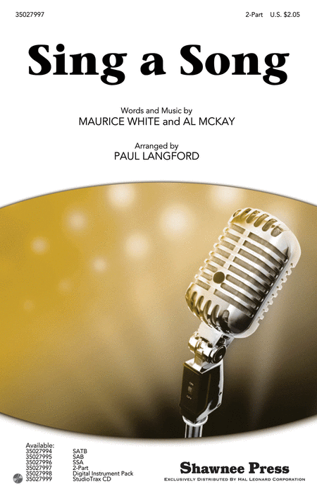 Sing a Song : 2-Part : Paul Langford : Maurice White : Earth, Wind & Fire : Sheet Music : 35027997 : 884088584139