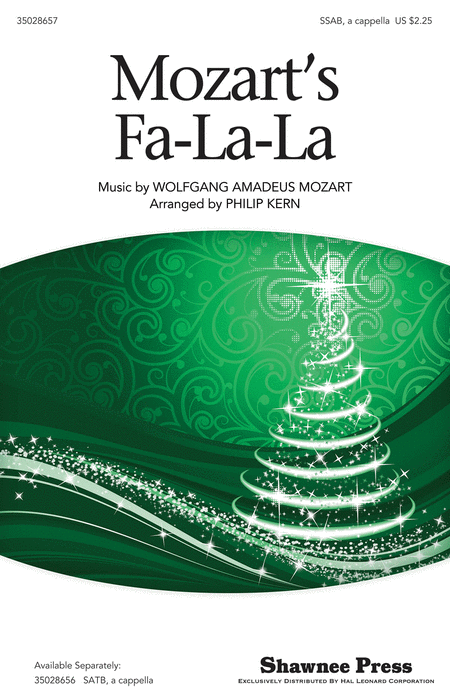 Mozart's Fa-la-la : SAB : Philip Kern : Wolfgang Amadeus Mozart : Sheet Music : 35028657 : 884088793951 : 1476871442