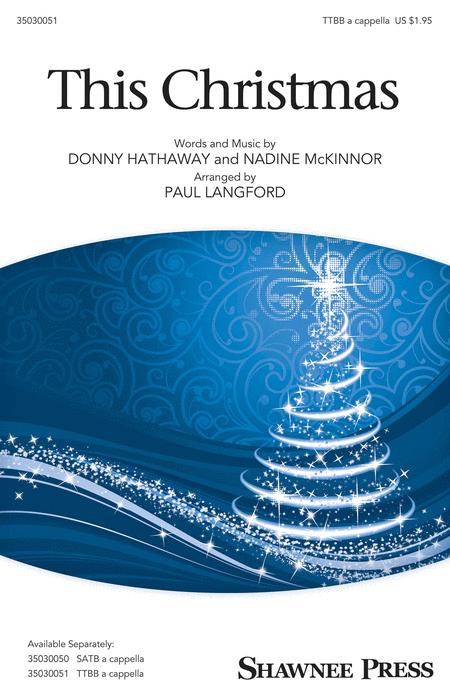 This Christmas : TTBB : Paul Langford : Donny Hathaway : Sheet Music : 35030051 : 888680036515 : 1495006778