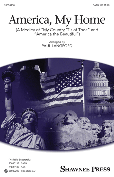 America, My Home : SATB : Paul Langford : Sheet Music : 35030138 : 888680045494 : 1495010198