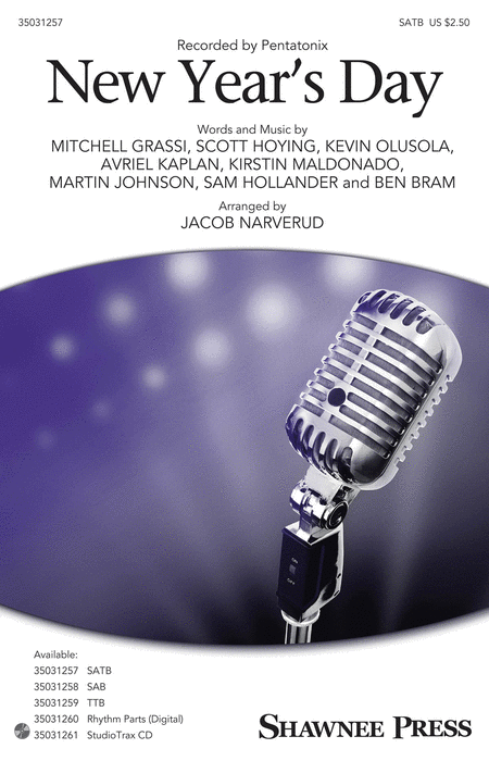 New Year's Day : SATB : Jacob Narverud : Pentatonix : Pentatonix : Sheet Music : 35031257 : 888680644680 : 1495074854