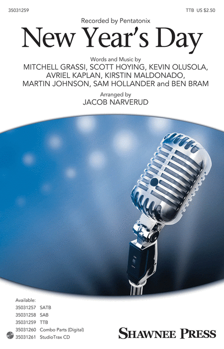 New Year's Day : TTB : Jacob Narverud : Pentatonix : Pentatonix : Sheet Music : 35031259 : 888680644703 : 1495074870