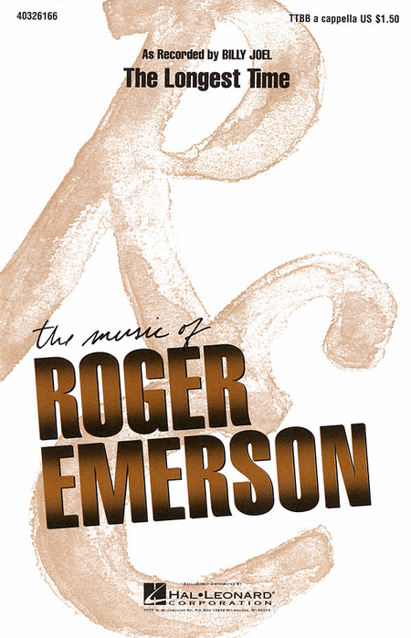 The Longest Time : TTBB : Roger Emerson : Billy Joel : Billy Joel : Sheet Music : 40326166 : 073999261660