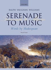 Ralph Vaughan Williams : Serenade to Music : SATB : Songbook : 9780193360020 : 9780193360020
