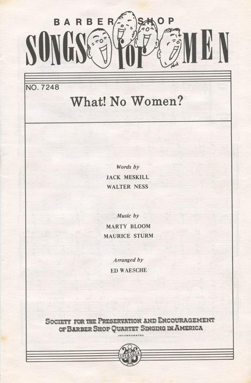 What! No Women? : TTBB : Ed Waesche : Sheet Music : 407887