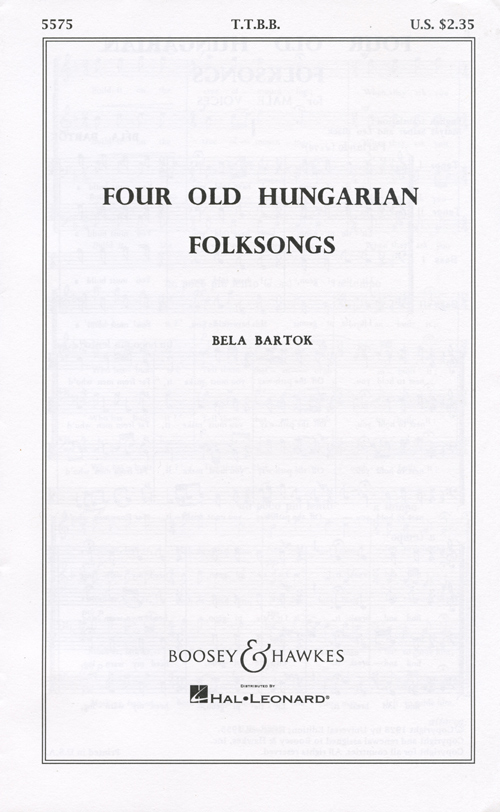 Four Old Hungarian Folksongs : TTBB : 0 : Sheet Music : 48003538 : 073999186666
