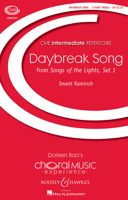 Daybreak Song : SSA : Imant Raminsh : Sheet Music : 48004082 : 073999792829