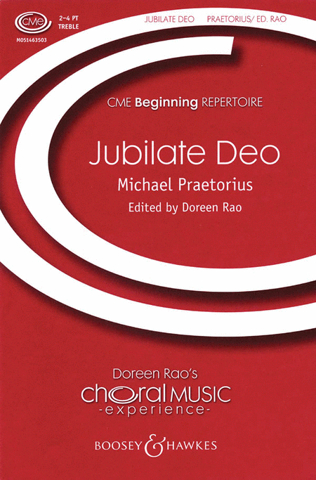 Jubilate Deo : SATB : Doreen Rao : Michael Praetorious : Sheet Music : 48004144 : 073999553550